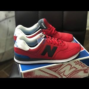 New Balance Shoes - New Balance 925 red blue running shoes